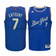Magliette Basket New York Knicks Uomo 2015 Carmelo Anthony 7# NBA Natale Swingman..