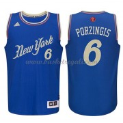 Magliette Basket New York Knicks 2015 Kristaps Porzingis 6# NBA Natale Swingman..