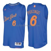 Magliette Basket New York Knicks 2016 Kristaps Porzingis 6# NBA Natale Swingman..