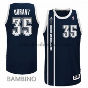 Maglie Basket NBA Oklahoma City Thunder Bambino 2015-16 Kevin Durant 35# Blue Alternate Swingman..