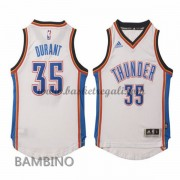 Maglie Basket NBA Oklahoma City Thunder Bambino 2015-16 Kevin Durant 35# Home Swingman..