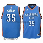 Maglie Basket NBA Oklahoma City Thunder Bambino 2015-16 Kevin Durant 35# Road Swingman..