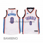 Canotte Basket Bambino Russell Westbrook 0# Home 2015-16 Maglia Oklahoma City Thunder