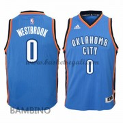 Canotte Basket Bambino Russell Westbrook 0# Road 2015-16 Maglia Oklahoma City Thunder..