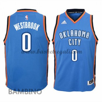 Canotte Basket Bambino Russell Westbrook 0# Road 2015-16 Maglia Oklahoma City Thunder