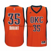 Maglie Basket NBA Oklahoma City Thunder Uomo 2015-16 Kevin Durant 35# Orange Alternate Swingman..