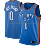 Maglie NBA Oklahoma City Thunder 2018 Canotte Russell Westbrook 0# Icon Edition..