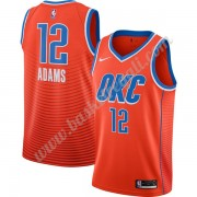 Maglie NBA Oklahoma City Thunder 2019-20 Steven Adams 12# Arancia Finished Statement Edition Canotte..
