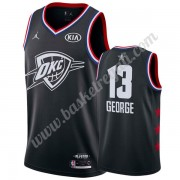Maglie Basket NBA Oklahoma City Thunder 2019 Paul George 13# Nero All Star Game Canotte Swingman..