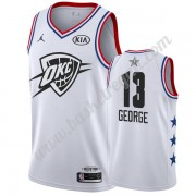 Maglie Basket NBA Oklahoma City Thunder 2019 Paul George 13# Bianca All Star Game Canotte Swingman..