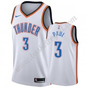 Maglie NBA Oklahoma City Thunder 2019-20 Chris Paul 3# Bianca Association Edition Canotte Swingman
