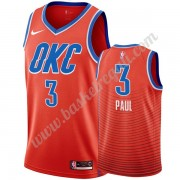 Maglie NBA Oklahoma City Thunder 2019-20 Chris Paul 3# Arancia Statement Edition Canotte Swingman..