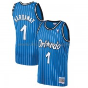 Maglie NBA Orlando Magic Mens 1994-95 Penny Hardaway 1# Blue Hardwood Classics..