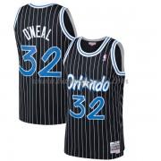 Maglie NBA Orlando Magic Mens 1994-95 Shaquille O'Neal 32# Black Hardwood Classics..