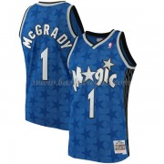 Maglie NBA Orlando Magic Mens 2001-02 Tracy McGrady 1# Blue Hardwood Classics..