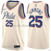Canotte Basket Bambino Philadelphia 76ers 2018 Ben Simmons 25# City Edition..
