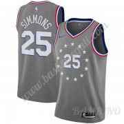 Canotte Basket Bambino Philadelphia 76ers 2019-20 Ben Simmons 25# Grigio City Edition Swingman..