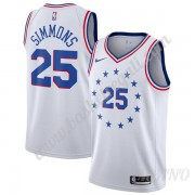 Canotte Basket Bambino Philadelphia 76ers 2019-20 Ben Simmons 25# Bianca Earned Edition Swingman..