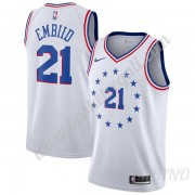 Canotte Basket Bambino Philadelphia 76ers 2019-20 Joel Embiid 21# Earned Edition Swingman..