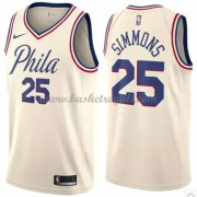 Maglie NBA Philadelphia 76ers 2018 Canotte Ben Simmons 25# City Edition..