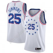 Maglie NBA Philadelphia 76ers 2019-20 Ben Simmons 25# Bianca Earned Edition Canotte Swingman..