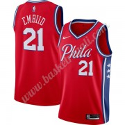Maglie NBA Philadelphia 76ers 2019-20 Joel Embiid 21# Rosso Finished Statement Edition Canotte Swing..