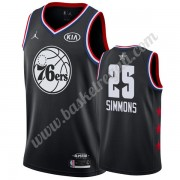 Maglie Basket NBA Philadelphia 76ers 2019 Ben Simmons 25# Nero All Star Game Canotte Swingman..