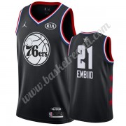 Maglie Basket NBA Philadelphia 76ers 2019 Joel Embiid 21# Nero All Star Game Canotte Swingman..