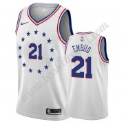Maglie NBA Philadelphia 76ers 2019-20 Joel Embiid 21# Grigio Earned Edition Canotte Swingman..