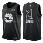 Divise Basket Philadelphia 76ers s Joel Embiid 21# Nero 2018 All Star Game..