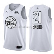 Divise Basket Philadelphia 76ers s Joel Embiid 21# Bianca 2018 All Star Game..