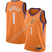 Canotte Basket Bambino Phoenix Suns 2019-20 Devin Booker 1# Arancia Finished Statement Edition Swing..