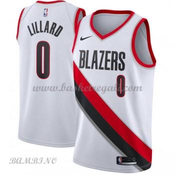 Canotte Basket Bambino Portland Trail Blazers 2018 Damian Lillard 0# Association Edition