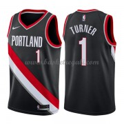 Maglie NBA Portland Trail Blazers 2018 Canotte Evan Turner 1# Icon Edition..