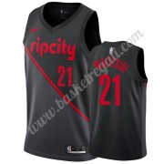 Maglie NBA Portland Trail Blazers 2019-20 Hassan Whiteside 21# Nero City Edition Canotte Swingman..