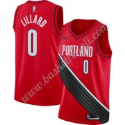 Maglie NBA Portland Trail Blazers 2019-20 Damian Lillard 0# Rosso Finished Statement Edition Canotte..