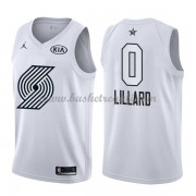 Divise Basket Portland Trail Blazers s Damian Lillard 0# Bianca 2018 All Star Game..