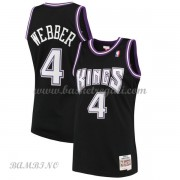 Canotte Basket Bambino Sacramento Kings 2000-01 Chris Webber 4# Black Hardwood Classics..