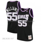 Canotte Basket Bambino Sacramento Kings 2000-01 Jason Williams 55# Black Hardwood Classics..