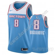 Canotte Basket Bambino Sacramento Kings 2019-20 Bogdan Bogdanovic 8# Blu City Edition Swingman..