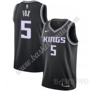 Canotte Basket Bambino Sacramento Kings 2019-20 De'Aaron Fox 5# Nero Statement Edition Swingman..