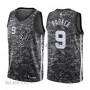 Canotte Basket Bambino San Antonio Spurs 2018 Tony Parker 9# City Edition..