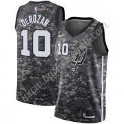 Maglie NBA San Antonio Spurs 2019-20 DeMar DeRozan 10# Nero City Edition Canotte Swingman..