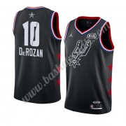 Maglie Basket NBA San Antonio Spurs 2019 Demar Derozan 10# Nero All Star Game Canotte Swingman..