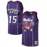 Maglie NBA Toronto Raptors Mens 1998-99 Vince Carter 15# Purple Hardwood Classics..