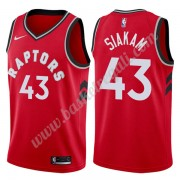 Maglie NBA Toronto Raptors 2019-20 Pascal Siakam 43# Rosso Icon Edition Canotte Swingman..
