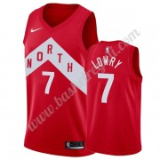 Maglie NBA Toronto Raptors 2019-20 Kyle Lowry 7# Rosso Earned Edition Canotte Swingman..