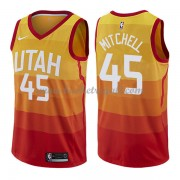 Maglie NBA Utah Jazz 2018 Canotte Donovan Mitchell 45# City Edition..