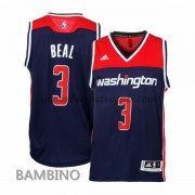 Canotte Basket Bambino Bradley Beal 3# Alternate 2015-16 Maglia Washington Wizards..