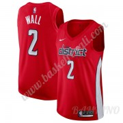 Canotte Basket Bambino Washington Wizards 2019-20 John Wall 2# Rosso Earned Edition Swingman..